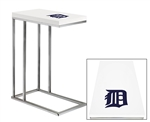 Accent End Side Table/TV Tray with a Chrome Metal Frame Featuring Your Choice of an MLB Team Logo Decal