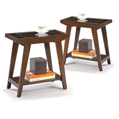 The Furniture Cove Chair Side Tables In An Espresso Cappuccino - Glass tops for bedroom furniture