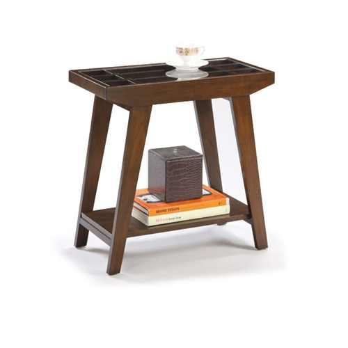 The Furniture Cove - Chair Side Table In An Espresso / Cappuccino
