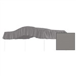 Full Size Solid Charcoal Gray Canopy Fabric Top