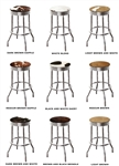"1 – 24"" Chrome Metal Bar Stool with a Swivel Seat Featuring Your Choice of an Authentic Cowhide Seat Cushion"