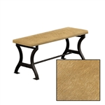 "Genuine Cowhide! 18"" Tall Universal Wood and Metal Bench with an Authentic Cowhide Covered Bench Top!"