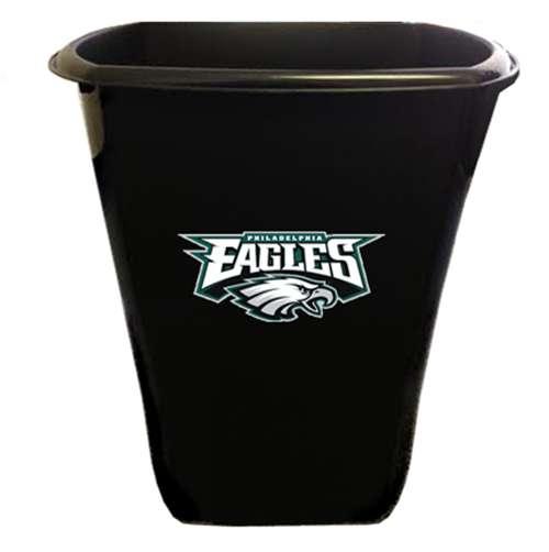 The Furniture Cove New Black Finish Trash Can Waste Basket Featuring Philadelphia Eagles Nfl