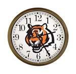 New Clock w/ Cincinatti Bengals Tiger NFL Team Logo