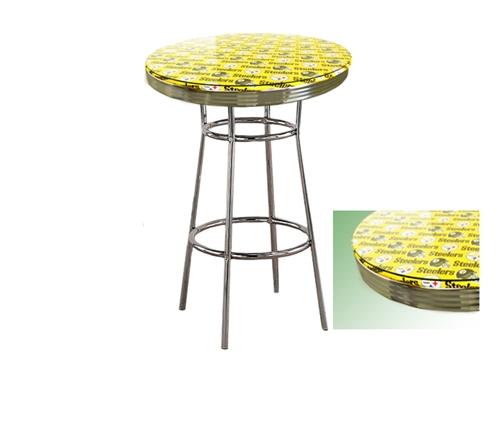 Pittsburgh steelers yellow glass top chrome metal finish