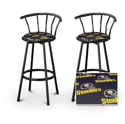 The Furniture Cove 2 Pittsburgh Steelers Nfl Football Themed Specialty Custom Black