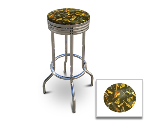Barstools Chrome Bar Stools Stool Swivels Foot Rest Ring Cushion Seat Cave  Man Chair Chairs Diner