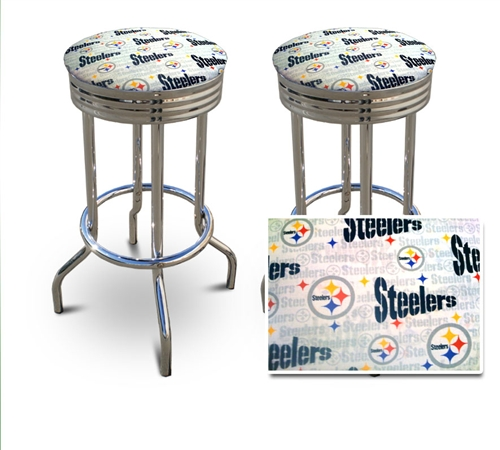 The Furniture Cove 2 Pittsburgh Steelers Nfl Football Themed Specialty Custom Barstools Set