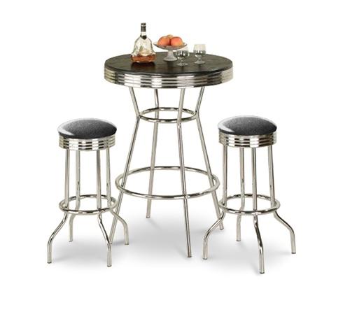 The Furniture Cove Retro Black Bistro Table Amp Pub Set