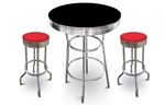 barstools table black white round bar stools stool swivels foot rest ring cushion seat cave man chair chairs diner metal dining finish pad padded pub pubstools restaurant