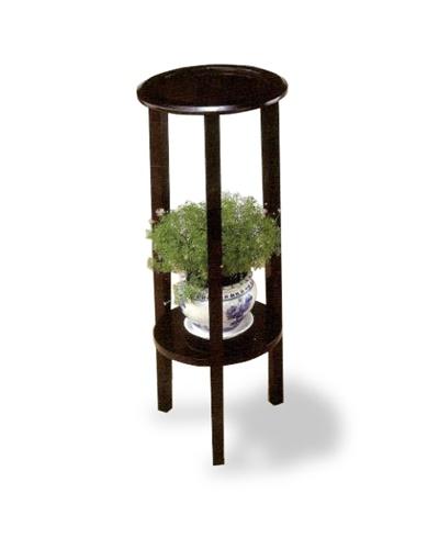 Dark Cappuccino / Espresso Plant Stand Accent Table Shelf Decorative Table  Contemporary Corner Display Furniture Man