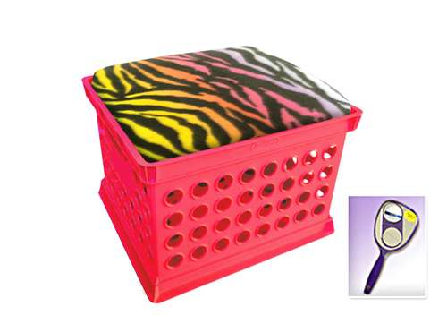 The Furniture Cove New Pink Milk Crate Storage Container Ottman