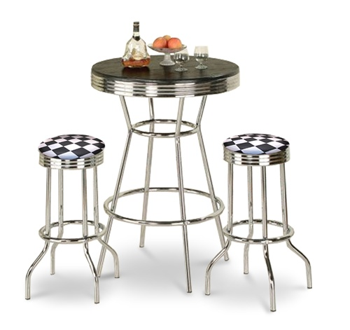 Barstools Chrome Table Black White Round Bar Stools Stool Swivels Foot Rest  Ring Cushion Seat Cave