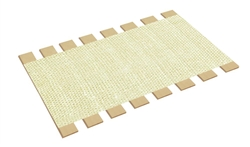 wholesale dealer 8faeb 16a05 Full Size Bed Slats with White Burlap Fabric - Choose Your Custom Width